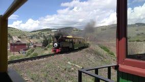 Parowego silnika pociąg w kaleki zatoczce Kolorado zbiory