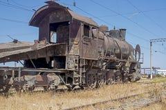 Parowej lokomotywy grób jard Obraz Stock