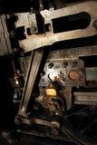 Parowej lokomotywy inżynierii szczegół Obrazy Stock