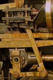 Parowej lokomotywy inżynierii szczegół zdjęcia royalty free