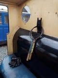 Parowej lokomotywy szczegół zdjęcie royalty free