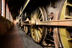 Parowi pociągów koła Obrazy Royalty Free