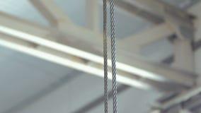 Parowozowe dźwignik pracy na fabryce zdjęcie wideo