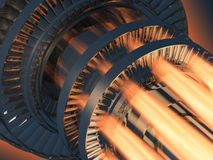 parowozowy benzynowej turbina działanie Zdjęcia Stock