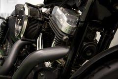 Parowozowy motocyklu zakończenia szczegółu tło Obrazy Stock