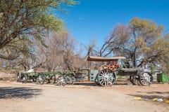 Parowy ciągnik i furgony w Koffiefontein Zdjęcie Royalty Free