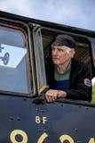 Parowy Parowozowy kierowca zdjęcia royalty free