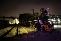 Parowy pociąg przy odpoczynkiem Obraz Stock