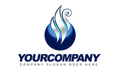 Parowy sfera logo Zdjęcie Royalty Free