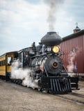Parowy silnik przy Środkowy Zachód młocarzy Starym spotkaniem, Mt Przyjemny, Iowa, usa fotografia royalty free