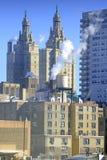Parowy wydźwignięcie od budynków dachów w Manhattan, Nowy Jork Zdjęcia Stock
