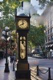 Parowy zegar przy Gastown Vancouver w ranku Zdjęcia Stock