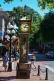 Parowy zegarowy Vancouver obraz royalty free