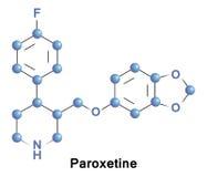 Paroxetin-Antidepressivum ssri lizenzfreie abbildung