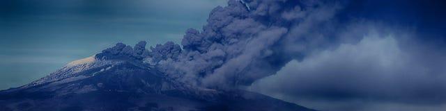 Paroxisme van Etna, stock afbeelding