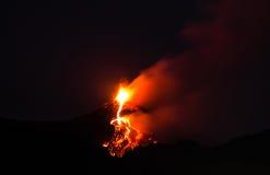 Paroxysm av Mount Etna Arkivbilder