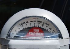 Parquímetro fotografía de archivo libre de regalías