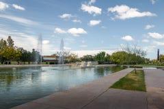 Parque中央公园湖- Mendoza,阿根廷 库存图片