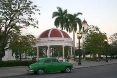 Parque何塞马蒂,西恩富戈斯,古巴 免版税库存照片