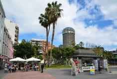 Parque圣卡塔利娜,街市在拉斯帕尔马斯,大加那利岛 免版税库存照片