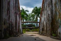 Parque abandonado del agua imágenes de archivo libres de regalías
