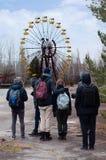 Parque abandonado em Pripyat, Chernobyl Fotos de Stock Royalty Free