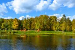 Parque agradable en otoño Imagen de archivo