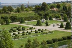 Parque ajardinado perto do castelo de Zolochiv, Ucrânia Foto de Stock Royalty Free
