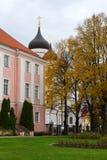 Parque al lado de Alexander Nevsky Cathedral en Tallinn. Estonia. Fotografía de archivo