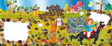 Parque animal, lago, cães e crianças, felizes Imagem de Stock