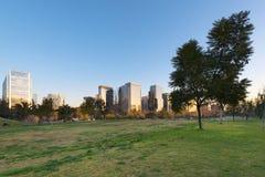 Parque Araucano,圣地亚哥de智利 免版税库存照片