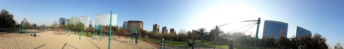 Parque araucano, Cerro Colorado en Santiago Foto de archivo