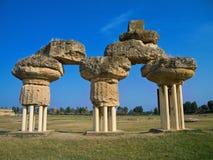 Parque Archaeological de Metapontum. Basilicata. Imagem de Stock Royalty Free