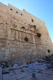 Parque arqueológico do arco de Robinson, Israel foto de stock royalty free