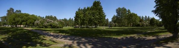 Parque asoleado Imágenes de archivo libres de regalías