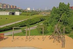 Parque Atlantico de las Llamas dans la ville Santander Photographie stock libre de droits
