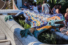 Parque Barcelona Catalunia España de Guell Foto de archivo libre de regalías