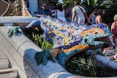 Parque Barcelona Catalunia Spain de Guell Foto de Stock Royalty Free