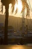 Parque Barcelona de Vell do porto, Espanha foto de stock