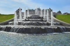 Parque barroco en el castillo del belvedere en Viena Imágenes de archivo libres de regalías