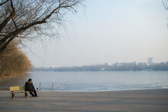 Parque beijing do inverno fotografia de stock royalty free
