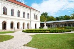 Parque bonito em Balatonfüred imagem de stock