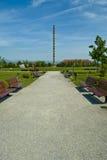 Parque bonito em Romania com coluna infinita imagens de stock royalty free
