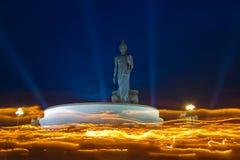 Parque budista en el distrito de Phutthamonthon Imagenes de archivo