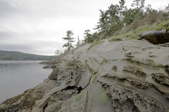 Parque calmo da casa de Bell na ilha 2 de Galiano, Canadá Imagem de Stock
