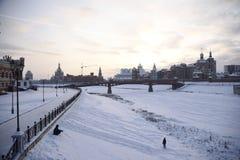 Parque center do Yoshkar-Ola - inverno Fotografia de Stock Royalty Free