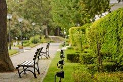 Parque cerca del hotel Fotografía de archivo libre de regalías
