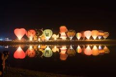 Parque Chiang Rai de Singha Silhuetas e borrão do balão Imagens de Stock