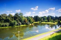 Parque colorido del verano del otoño imagen de archivo