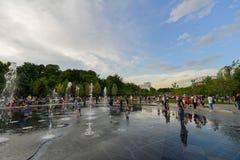 Parque com fontes, Yerevan imagens de stock